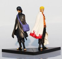 Wholesale Naruto Uzumaki Action Figures - 2016 Naruto Figure Uzumaki Naruto And Uchiha Sasuke PVC Action Figures Toys Model Dolls 17cm Approx Great Gift