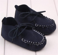 Wholesale 1 pair Baby Moccasins Soft Moccs Baby Shoes Newborn Baby firstwalker Anti slip Genuine Cow Leather Infant Shoes Footwear