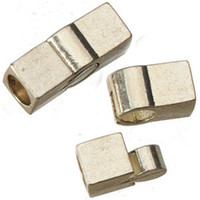 Wholesale Magnetic Bracelet Clasps 5mm - Jewelry Findings DIY Magnetic Clasps For Cords Leather Bracelets Toggles Hook 5mm Round Holes Vintage Silver Rectangle Metal 20*7*7mm 20pcs