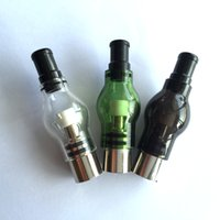 ingrosso lampadina di vetro vaporizzatore a erbe-Glass Glass Globe Vaporizzatore Wax Atomizers Pyrex Glass Bulb Wax Dry Herb Tank Penne - Si adatta alle bobine di cera doppia ciambella a spirale di quarzo