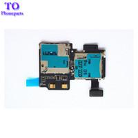 flexkarte großhandel-Neue sd kartenleser sim kartenfach halter slot flex kabel für samsung galaxy s4 i9500 i9505