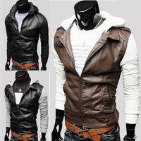 Wholesale Pu Leather Garment - NEW arrived free shipping popular men's jacket fashion men's PU leather jacket mens leather garment PY10