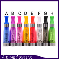 Wholesale Ego Cigarette Ce5 Atomizer Clearomizer - CE4 Atomizer eGo Clearomizer 1.6ml 2.4ohm vapor tank Electronic Cigarette for e-cig battery colors CE4+ CE5 free shipping (0203190) 1
