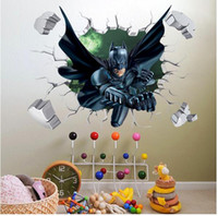 Wholesale wall stickers for kindergarten - The new batman 3D stereoscopic wall of children's kindergarten living room wall can remove wall stickers