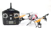 Wholesale Rc Sky Ship - Wholesale-Big RC Helicopter WLtoys V212 Sky Dancer 4Channels 2.4GHz LCD Remote Control 4 Aixs Toys Model Drone Free Shipping