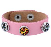 Wholesale Wholesale Childrens Beads - NOOSA 2015 kids childrens mini noosa chunks snap button genuine leather bangles bracelets ginger snaps interchangeable DIY Jewelry 8 colors