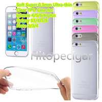 Wholesale S4 Back Crystal - New Soft Super 0.3mm Ultra-thin Clear TPU Case For iphone 4 5 6  6 plus Samsung Galaxy S6 S4 S5 Note 2  3 4 Crystal Back Cover Case DHL Free