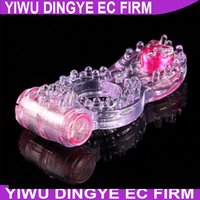 Wholesale Double Cock Rings - 151206 Penis Rings Vibrating Cock Ring Double Stimulators Adult Sex toys Sex Products
