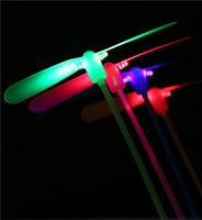 Wholesale Lightsaber Christmas Lights - Dragonfly Lightsaber Flying Toys Christmas Toys 2pcs Led Flying Dragonfly Helicopter Boomerang Frisbee Flash Child Toy Gift Auho Rave Lights
