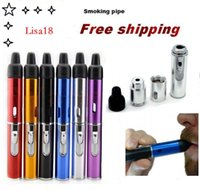Wholesale wind free torch vape resale online - Sneak A Vape Click N Vape Mini Herbal Vaporizer Smoking Pipe Touch Flame Lighter with Built in Wind Proof Torch Light