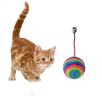 Pet Cat Toy Funny Cat Dog Scratch Toys Gatito Teaser Jugar Jugar Chew Rattling Bola Cuerda Weave Ball Cat Suministros de Entrenamiento