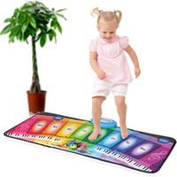Wholesale Electronic Organ Toys - Wholesale- Baby Music Mat Carpet Rainbow Piano Kids Electronic Organ Dancing Crawling Toys