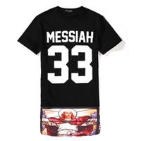 Wholesale Skirt Short Sleeve Top Shirt - Wholesale-Men Baseball t shirt tyga cool MESSIAH 33 oversized harajuku short sleeve Lengthen skirt casual-shirt bandana loose tops tees