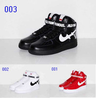 2018 new arrivel Dunk MID SUPERME Pelle AF1 Skateboarding Women's Lover da donna Running Air SKATE sneaker Scarpe sportive