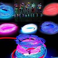 3MLed Flexible néon Light Glow EL Câble métallique Tube Flexible Neon Light 8 Couleurs Voiture Dance Party Costume + Contrôleur Holiday Decor Lumière 10