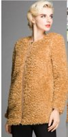 Wholesale Winter Fur Slim Coat Keep - Wholesale-Free Shipping The New winter 2015 Women's Clothing Brand Ladies Fashion Design With Thick Fur Coat To Keep Warm in Winter