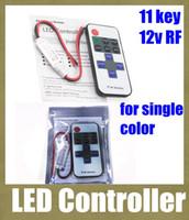 Wholesale remote dimmer color resale online - rgb led lamps remote control led christmas light controller key led single color dimmer wireless rf remote control led strip DT010