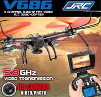 modlu rotor toptan satış-Yeni WLToys V686 FPV Drone V686G DV686 FPV RC Quadcopter 2.4G 4CH 5.8G FPV RC Helikopter Kamera Başsız Modu FPV RTF