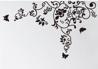 Wholesale Manufacturing Papers - Free Shipping 160*100cm Hot Selling Wall Decal DIY Decoration Fashion Romantic Flower Wall Sticker  Home Sticker Manufacture