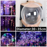 Luminoso Bobo Balloon levou luz 3m LED Light Balloon Centerpiecepiece Balloon Christmas Ornaments Comemore suprimentos LED Light For Party