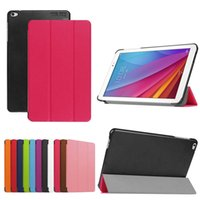 Wholesale China Wholesale Note Cases - 100pcs Ultra Slim PU Leather Case for 9.6 inch Huawei MediaPad T1 10 Honor Note T1-A21W Tablet Case + Screen Protector Protective Film
