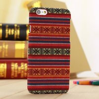 Wholesale Retro Aztec Cases - Slim Vintage Tribal Style PC Hard Case Back Cover for Apple iPhone 6 Plus 5.5 inches Retro Aztec Tribe Skin Phone Shell Bags