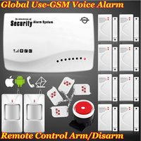 Wholesale Smart Wireless Burglar - Free shipping! New High quality smart Real Voice Prompt Most Cost-Effective Wireless Home Intelligent Burglar GSM Alarm System 900 1800Mhz