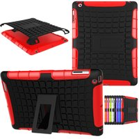Wholesale Protective Hard Case Tablet - 2017 TPU+PC Hybrid Armor Hard Kickstand Stand Cover Tablet Case For iPad 2 3 4  Pro iPad air 2 iPad mini 4 Cases