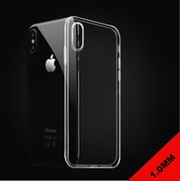 Wholesale Thicknesses Silicone - For iPhone X 8 1.0MM Thickness Soft Transparent Clear TPU Back Gel Cover Phone Case For Apple iPhone 7 5 6S plus