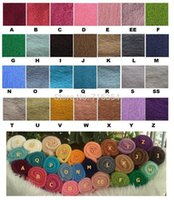 Wholesale-10pieces / lot 28 Farben Knit Stretch-Rayon-Verpackungs-neugeborene Baby-Foto Props 40cm x 80cm