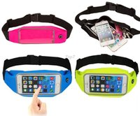Wholesale phone case wallet for men - 2016 Waterproof Running Sport Waist Bag Mobile Phone Pouch Wallet Case Holder Belt Zipper Bag for iPhone 6   Plus Samsung All