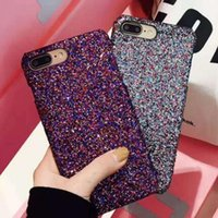 Bling pulver bling telefon case für iphone x 8 7 6 6 s plus handy groß luxus funkeln strass kristall mobile gel abdeckung