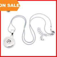 Wholesale Models Snaps - 2 models noosa necklace DIY noosa snap button chunk crystal Snake Chain noosa jewelry for women fashion jewelry Christmas gift 160693
