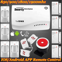 Wholesale Secure Gsm Alarm - DHL EMS Free Fast Shipping! New brand App IOS Andorid Support Wireless GSM home Voice alarm system W built-in speaker for intercom Secure