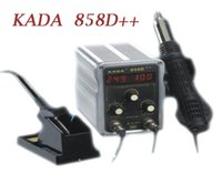 Wholesale Kada Soldering Station - Hot sale, Soldering station KADA 858D++ 2 in 1 multi-task desoldering station solder iron dual digital display,free shipping.
