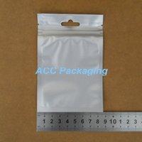 "Wholesale Black Ziplock Bags - 800Pcs Lot 8.5*13cm (3.3""*5.1"") Black Self Seal Zipper Lock Mylar Retail Hanging Pouch Front Clear Ziplock Plastic Package Bag"