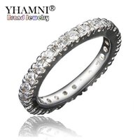 YHAMNI Fashion 24K Gold Filled Wedding Rings For Women Luxo Full CZ Diamante Engagement Ring Fine Jewelry R531