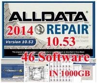 Wholesale Ford Installation - 2017 all data car software alldata 10.53+mitchell ondemand 2015 easy installation version 46 in 1TB HDD free shipping