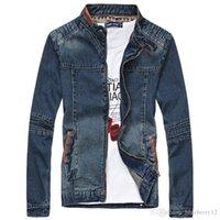 Wholesale Jeans Jacket Cool - Men's Style Cool Winter Men Jeans Denim Zipper Casual Brand Stand Collar Jacket Male Coat Clothes Plus Size M-5XL