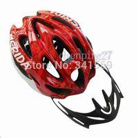 Wholesale Merida Cycle Helmets - Wholesale-MERIDA Red New Cycling Bike Sports Safety Bicycle 15 Holes Adult Men Helmet with Visor AH1026-R