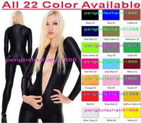 Wholesale zentai dress xxl - Unisex Sexy Bodysuit Costumes New 23 Color Lycra Spandex Suit Catsuit Costumes Sexy Body Suit Halloween Party Fancy Dress Cosplay Suit P106