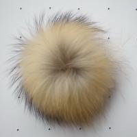 Wholesale Raccoon Fur Balls - 15cm size hot sale fashion decorations raccoon fur ball, raccoon Pom Pom ball raccoon fur pompons free shipping