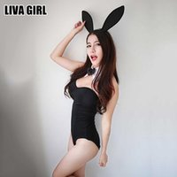 Wholesale Lingerie Girls Sex - Liva Girl Fashion Novelty Black Bunny Lingerie Bunny Girl Sexy Costumes Intimate Sex Products Erotic Lingerie Female