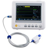 Wholesale Monitor Parameters Vital - CE Proved 7 Inch ICU CCU Vital Sign Patient Monitor 6 parameter ECG NIBP RESP TEMP SPO2 PR