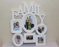 fotoalben kostenloser versand großhandel-Freie Verschiffen-Kunst-Rahmen an der Wand befestigter Familien-Album-Rahmen für Hauptdekoration-Weiß-verbindenden Familien-Foto-Rahmen-Familien-Foto-Rahmen 1 PCS / lot