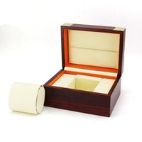 Wholesale high quality wooden boxes - Fashion high quality Wooden Boxs wine Red Watchs Boxes Gift Box Watch pillow Wood box Luxury Brand Wooden boxs