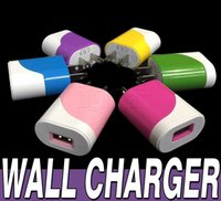 2016 hot iphone 6s plus Galaxy S6 Edge Universal Coloré 5V 1A USA Plug Adaptateur secteur Chargeur mural USB pour iPhone 6 Samsung Galaxy S7