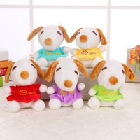 Wholesale Snoopy Stuff Toy - 2016 New Cartoon Plush Toys Snoopy Stuffed Animals Doll 20cm Children Best Christmas Gift 5 colors 20pcs lot