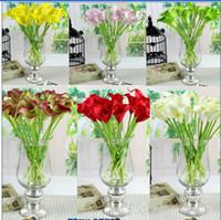 Wholesale Real Touch Flower Arrangement - 33cm Length 8 Colors Availsble Real Touch Latex Calla Lily Lilies for Wedding Party Home Decorative Flower Arrangements & Centerpieces