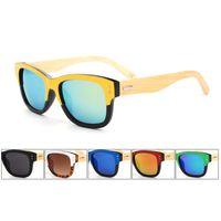 Wholesale Bamboo Wood Sunglasses Men Wholesale - 2015 Fashion Original Bamboo Sunglass Rivets Wooden Sunglasses Men Women Sports Wood Sun Glasses Gafas Oculos De Sol 6Pcs Lot Free Shipping